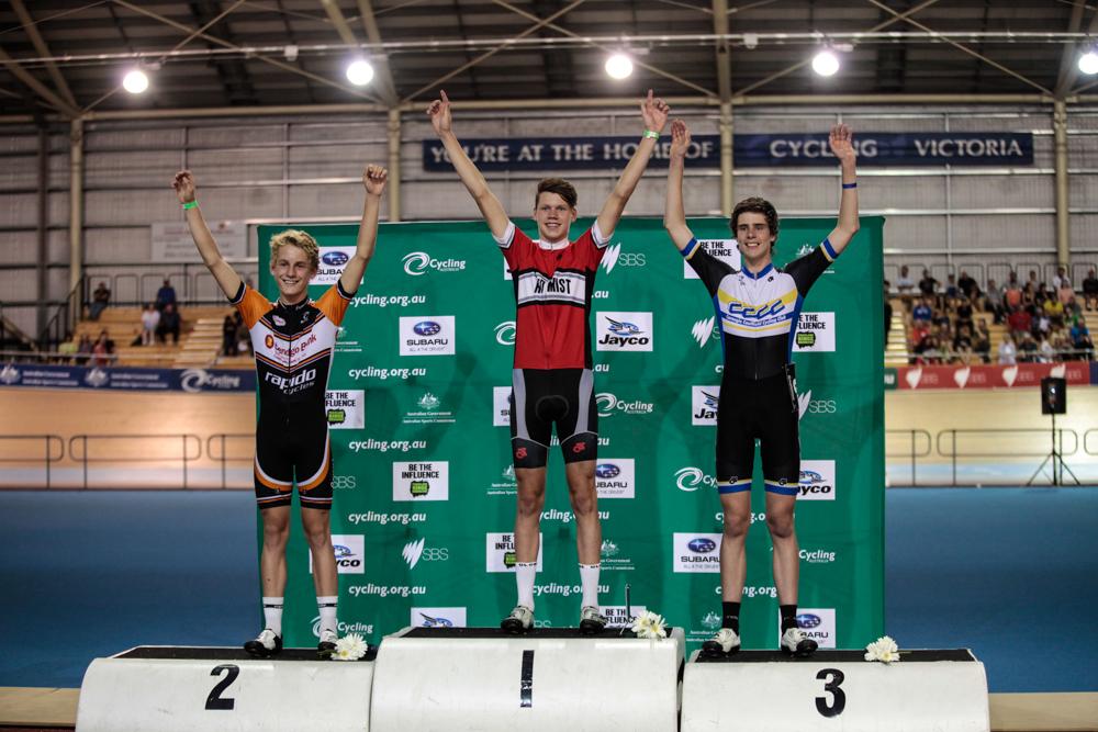 Winners Podium of the 2014 Junior Austral