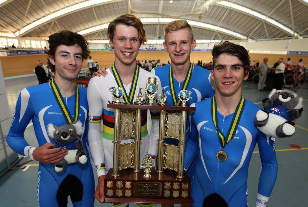 Australian J19 Team Pursuit Champions - 2016